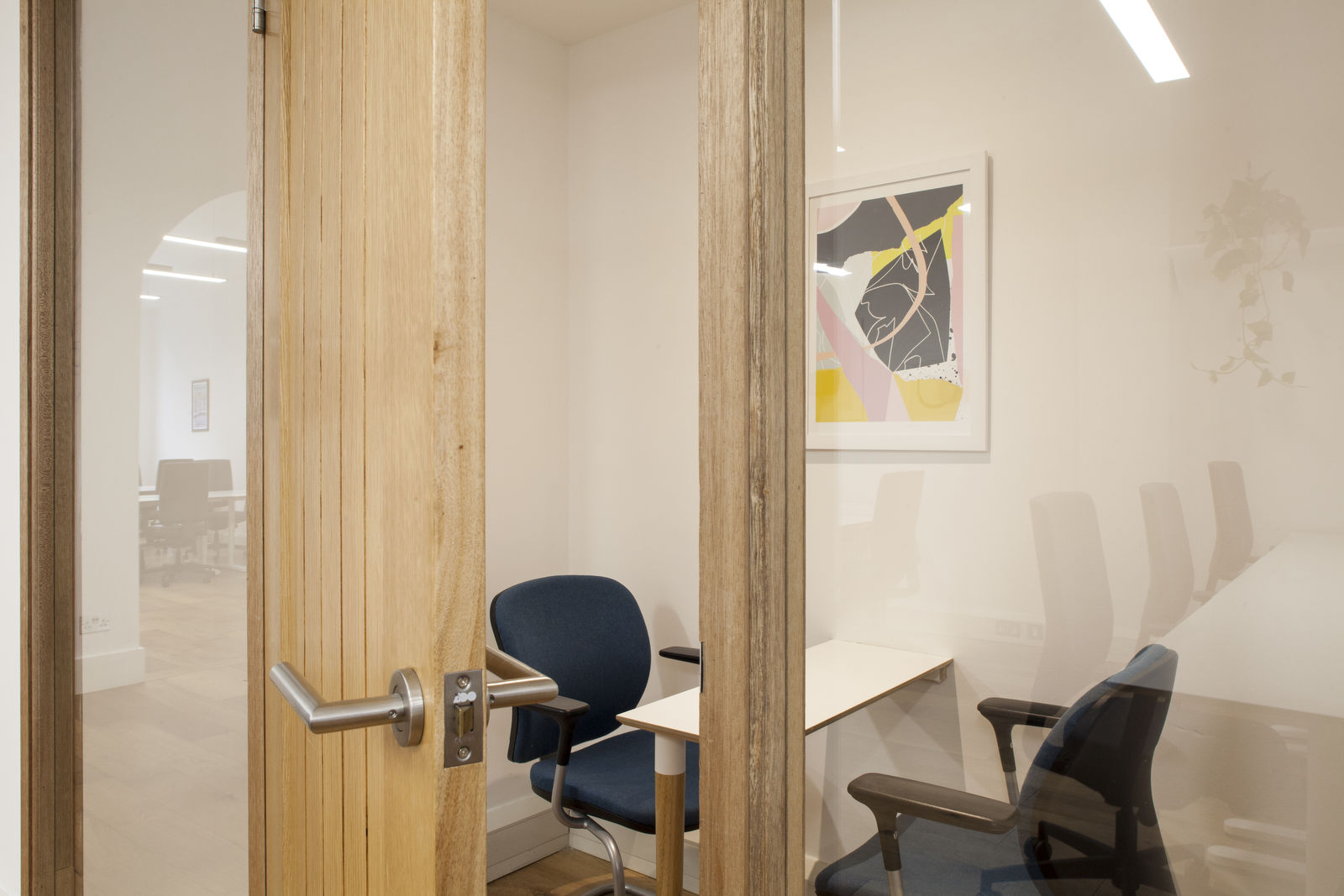 Meeting room at our office space near Old Street
