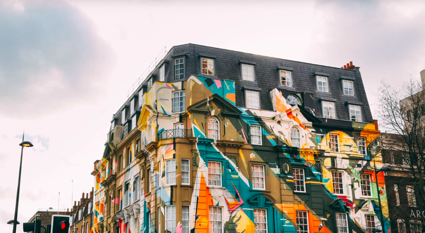 Building with street art in Shoreditch