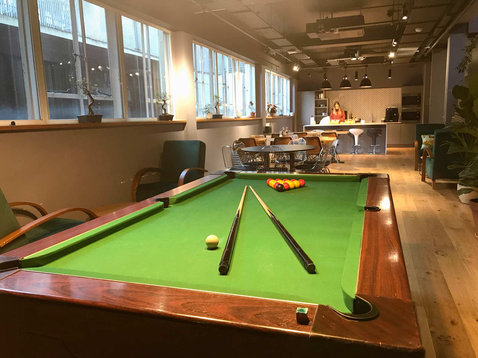 Office with pool table Shoreditch