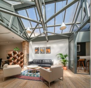 Open plan offices in Shoreditch, London