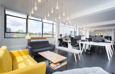 Open plan offices spaces in Shoreditch