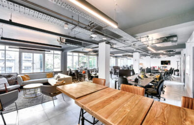 Open plan office space on Luke Street, Shoreditch