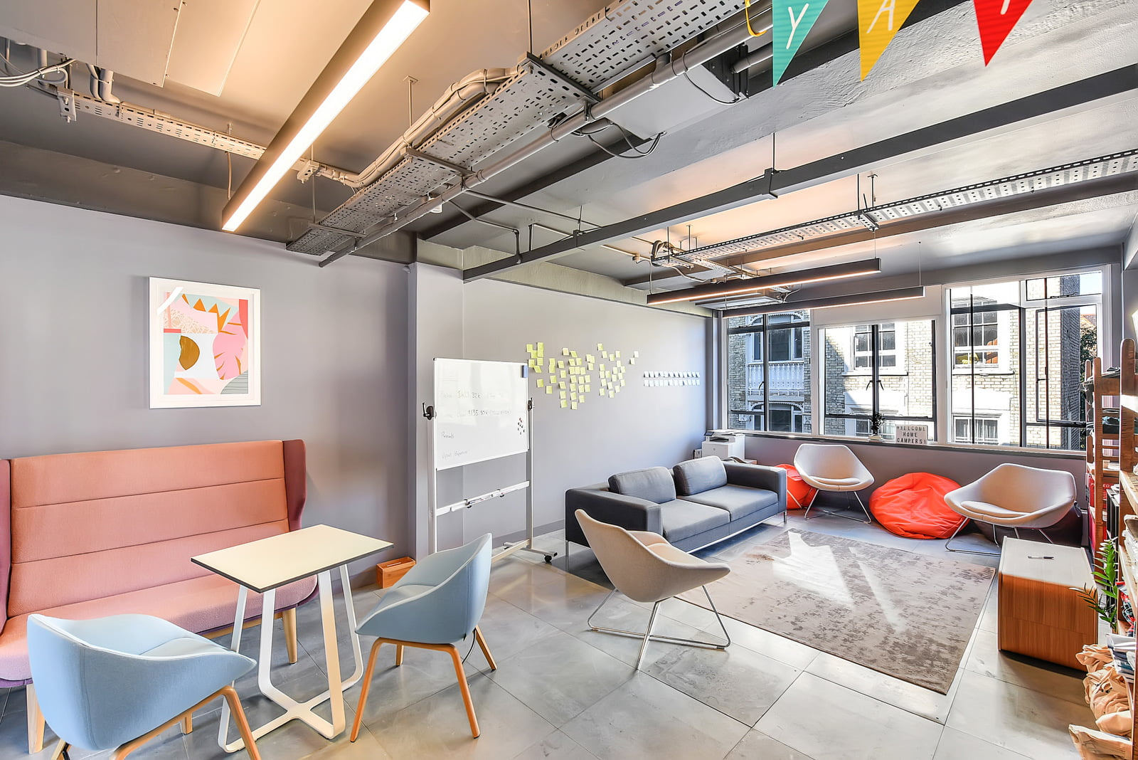 Tech startup office spaces London - collaborative spaces